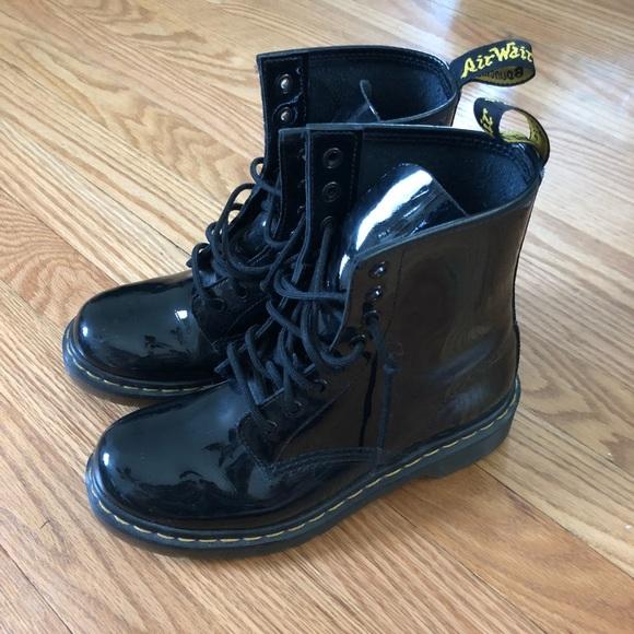 e9944cc8ee8 Dr. Martens Shoes - Dr Martens Black Patent 1460 8 Eye Boots